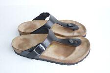 Birkenstock Gizeh Birko-Flor Black Slide Sandals Size 38  8 m