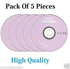 Pack Of 5 Pieces National  Dual Double Layer Blank DVD+R 8.5GB High Quality