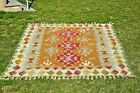 Turkish Soft Color Bohemian Rug Traditional Anatolian Oushak Kilim Rug 5x8 ft.