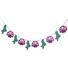 FP- FA- Seashell Mermaid Garland Bunting Banner Hanging Ornament Birthday Decor
