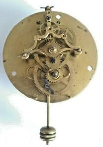 """RARE French """"Farcot"""" Vis Escape Clock Front Pendulum Fixed! Working."""