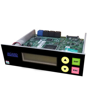 Acard 1 to 7 CD DVD Burner Disc Duplicator Controller + SATA cables