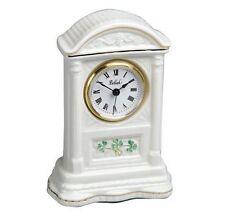 Irish Belleek Glenveigh Mantel Clock Shamrocks