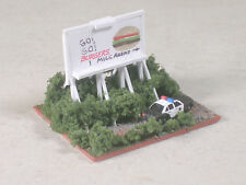 Z Scale Go, Go, Burger Billboard with speed trap.