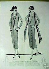 "1924 FLAPPER DRESSES ROARING TWENTYS WOMEN""S FASHION AD"