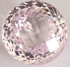 Stunning 37.7cts18x14 mm Fancy Round Checkerboard LightPink created Sapphire
