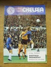 04/01/1975 Chelsea v Sheffield Wednesday [FA Cup] (Light Fold, Small Rip). No ob