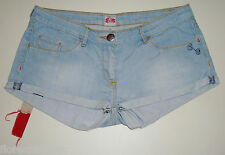 "GORGEOUS SASS&BIDE S&B VIE LIGHT BLUE WASH DENIM SHORTS - 32 ""EDENS"""