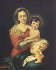 "Catholic Print Picture Madonna and Child by Murillo 8x10"" ready to frame"