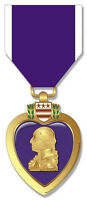 """Purple Heart Combat Wounded Medal 5.5"""" Sticker 'Officially Licensed'"""