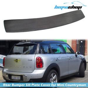Fit For 2016 Mini Countryman R60 SUV Rear Bumper Sill Plate Cover Protector Trim