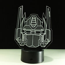 Night Light Acrylic Lamp LED Transformers Mask Logo Home Deco Touch Light Gift