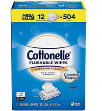 New!Cottonelle sewer& septic safe Flushable Wipes (504 ct.).Free shipping!