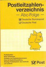 Postleitzahlen Verzeichnis, Abc-Folge, Deutsche Post, die alten Postleitzahlen