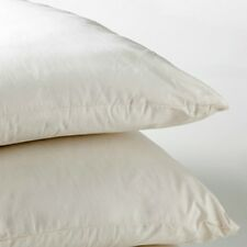 "Duck Feather Cushion Pads 16""x16"" 40cm Square Cambric Cover 2 pack Made in UK"