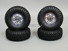 Gmade 1/10 SCALE TRUCK RIMS 1.9 OFF-ROAD BEADLOCK WHEELS W/110MM SWAMPERS CHROME