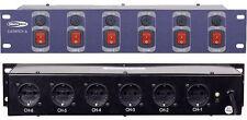 Stromverteiler DJ Switch 6 Kanal mit Schukoausgängen Strompanel