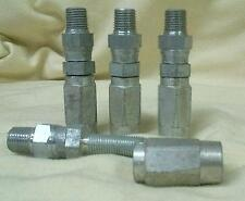 "4 Reusable Hydraulic Hose Fittings 1/4"" Male Pipe Swivel  x -5 (5/16"") hose NOS"