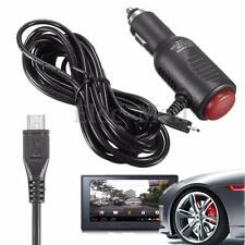 3.5m Car Auto Vehicle Power Charger Adapter Cable Cord Micro Usb 5V 2A For Gps