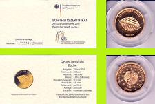 """2011 - 20 EURO - Deutscher Wald - Buche - Buchstabe """"J"""" - GOLD"""