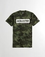 NWT HOLLISTER Men Printed And Applique Logo Graphic T Shirt Tee By Abercrombie