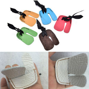 Finger Tab Guard Protector Glove Cow PU Leather Archery Shooting Hunting BH FJ