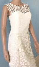 $917 Roberto Cavalli Class Dress Organza Ivory Embroidered Lace Vintage 44 US 8