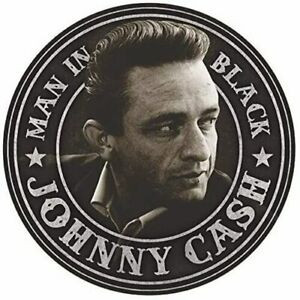 "Johnny Cash Man In Black 12"" Round Tin Metal Sign Country Music Nashville Decor"