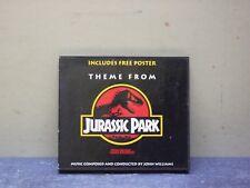 Jurassic Park- cd- colonna sonora del film di S. Spielber- con poster