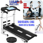 US Folding Manual Treadmill Working Machine Cardio Fitness Exercise Incline Home