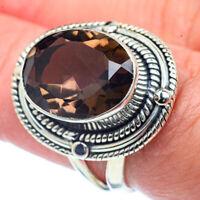 Smoky Quartz 925 Sterling Silver Ring Size 7 Ana Co Jewelry R38332F