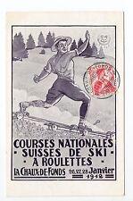 SUISSE SWITZERLAND Canton NEUFCHATEL LA CHAUX DE FONDS Courses SKI à roulettes