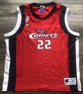 Champion WNBA SHERYL SWOOPES #22 Houston Comets Vintage Red Jersey Sz Medium