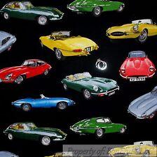 BonEful Fabric Cotton Quilt Black Red Blue Sport Muscle CAR Green Yellow L SCRAP