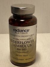 Radiance Platinum Elderflower Sambucus 400MG, 100 Capsules EXP 002/2022