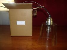"HANGING GLASS LIGHT FIXTURE 7""W x 10""H (CORD 66"") CT1902-PT ***NIB***"
