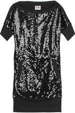 JUICY COUTURE sequin dress tunic t-shirt mini abito vestito tunica donna S/M NWT