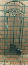 Vintage Wrought Iron Fireplace Tools and stand Set