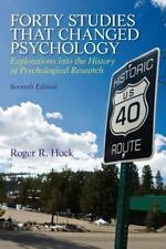 Forty Studies That Changed Psychology by Roger R. Hock (2012, Paperback, Revised