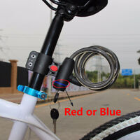 Cycling Cable Anti-Theft Bike Bicycle Scooter Safety Lock With 2 Keys Jian