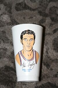 70's Vintage KEVIN LOUGHERY Philadelphia 76ers 7-11 Slurpee NBA Cup In EUC