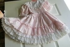 BEAUTIFUL VINTAGE GIRL DRESS Martha MINIATURES size 6x ruffle
