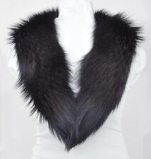 "Genuine Fox Fur Collar 43.5""/36.5"" Deep Dark Brown A SAMPLE New"