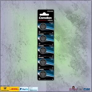 5 Stück Camelion CR2450 Knopfzellen Uhrenbatterien Knopf Lithium MHD 10-2028