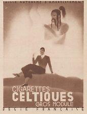 Z9653 Cigarettes CELTIQUES -  Pubblicità d'epoca - 1934 Old advertising