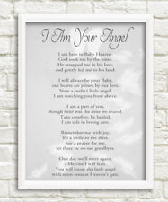 I am your angel bereavement grief poem print a4