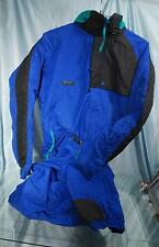 Warm COLUMBIA Blue Black Teal One-Piece Ski Snowmobile Snowsuit Sz L