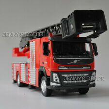 1:50 Diecast Model Toy Volvo Ladder Fire Engine Truck Pumper Replica with S&L