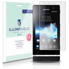iLLumiShield Matte Screen Protector w Anti-Glare/Print 3x for Sony Xperia U