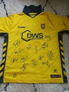 signed Aston Villa shirt.  2006.  Cahill. Bouma. Angel. Samuel. McCann